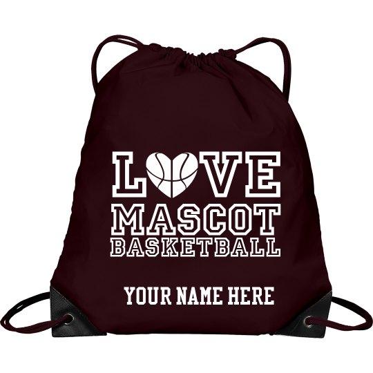 Love custom mascot basketball