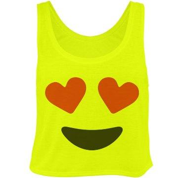 Love Emoji tank top