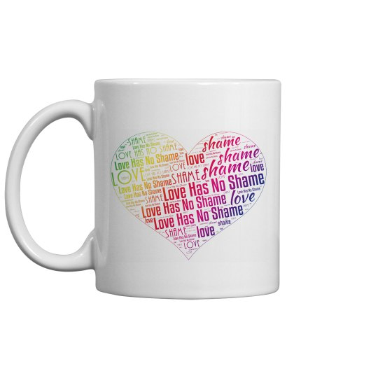 Love Has No Shame - Heart Rainbow