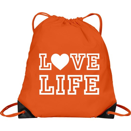 Love LIFE drawstring bag