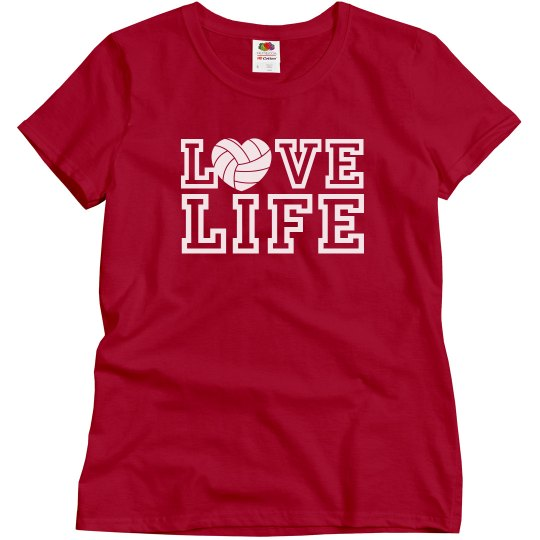 Love LIFE volleyball shirt with player name