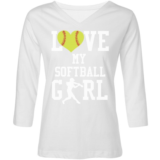 Love My Softball Girl