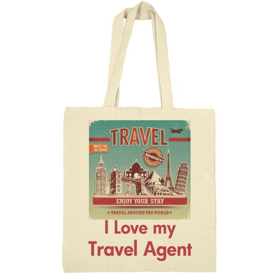 Love my travel agent tote