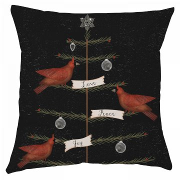 Love, Peace, Joy Christmas Pillow Cover