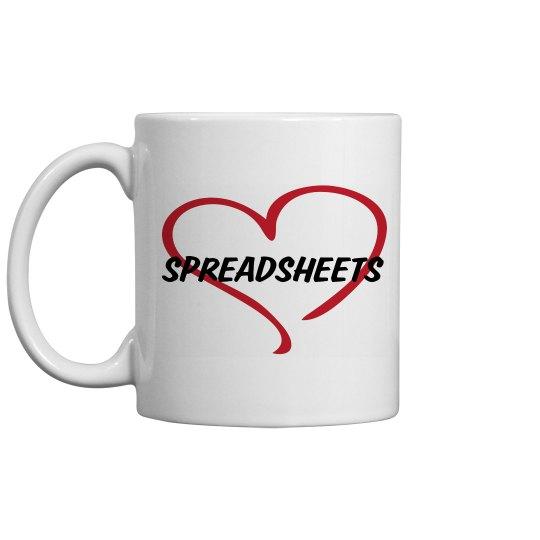 Love Spreadsheets Mug