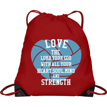 """""""Love The Lord"""" Volleyball Bag"""