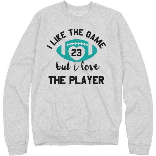 Love The Player Football Number