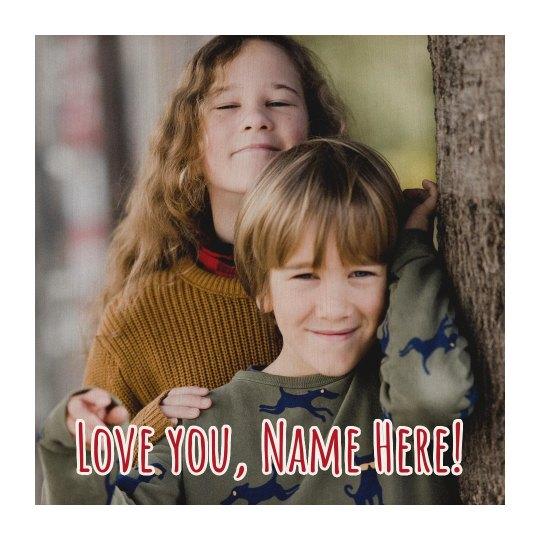 Love You Custom Name Wood Board