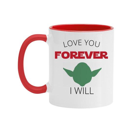 Love You Forever Alien Mug