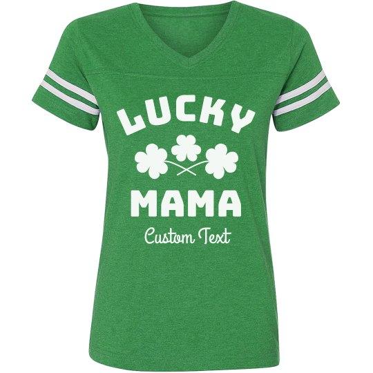 Lucky Mama Custom Family St. Patrick's Day Tee