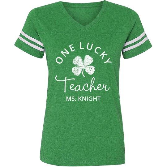 Lucky Teacher Green St Patricks Day