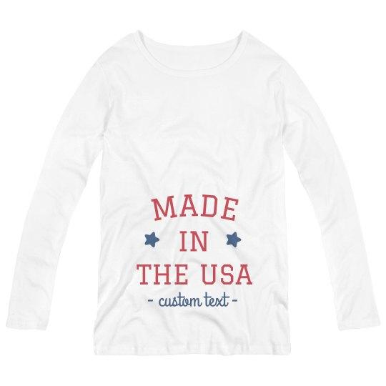 Made in the USA Custom Maternity Long-Sleeve Tee