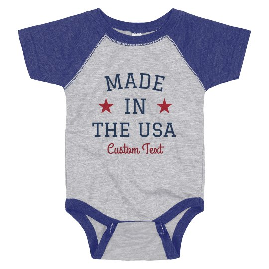 Made in the USA Patriotic Baby