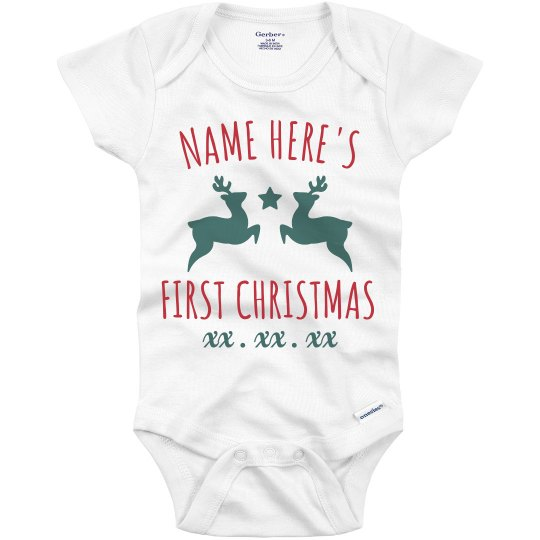 Made-To-Order Name Here First Christmas