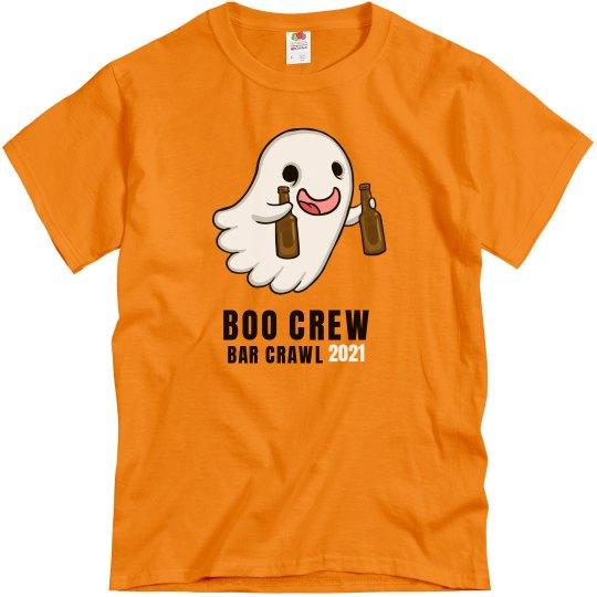 Made-To-Order Name, Number, Boo Crew Bar Crawl 2021 Tee