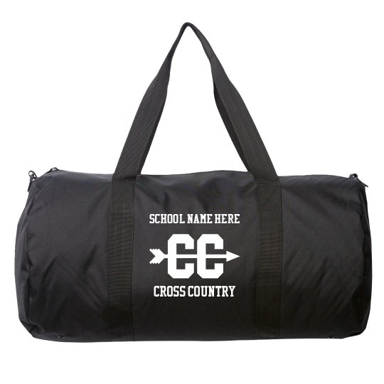 Made-To-Order School Name Cross Country Duffel Bag