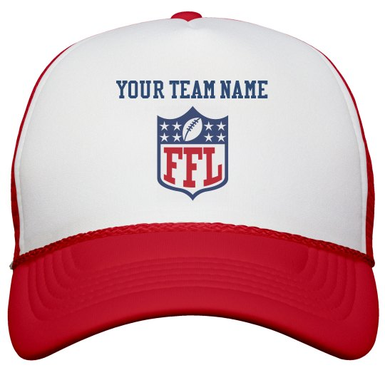 Made-To-Order Your Team FFL Red White Trucker Hat