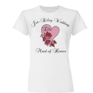 Maid Of Honor Floral Tee