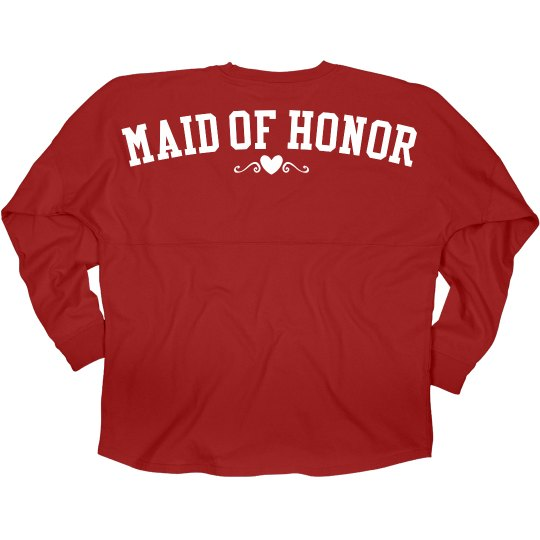 Maid Of Honor Jersey Love
