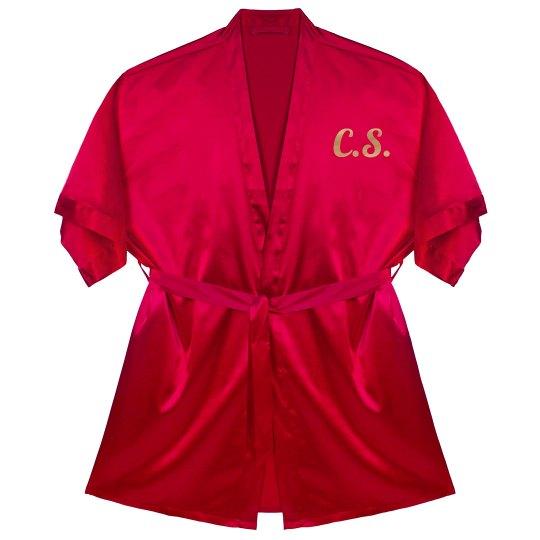 Make A Custom Metallic Silk Robe
