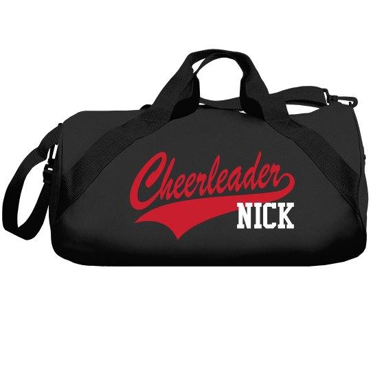 Male Cheerleader Custom Bag In School Colors