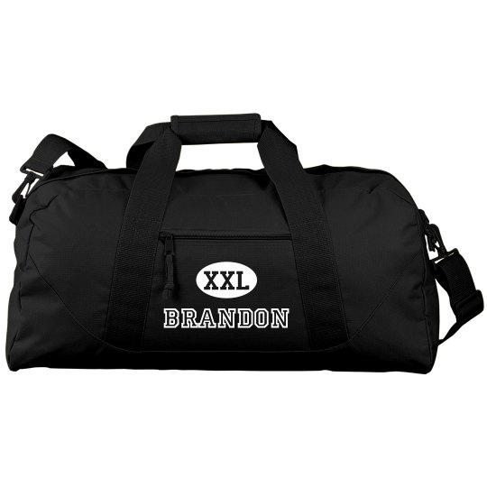 Male Cheerleader Gear Bag WIth Custom Name