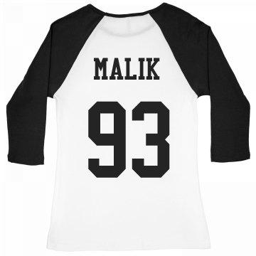 Malik Baseball Tee
