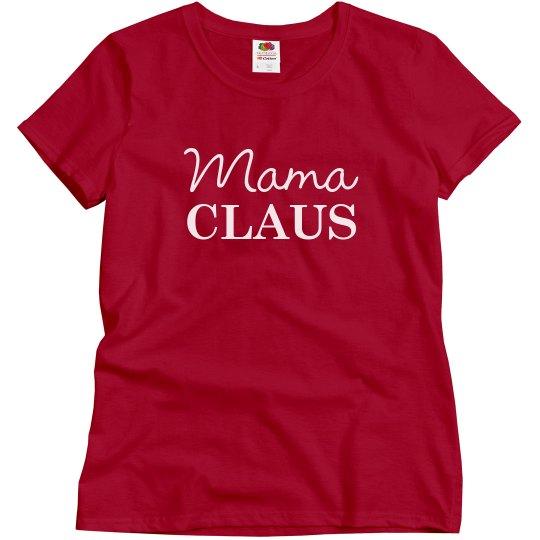 Mama Claus Matching Xmas Pajamas