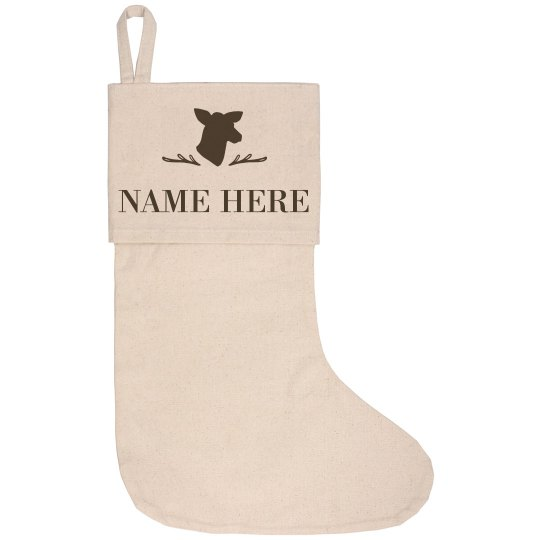 Mama Deer With Custom Name Design
