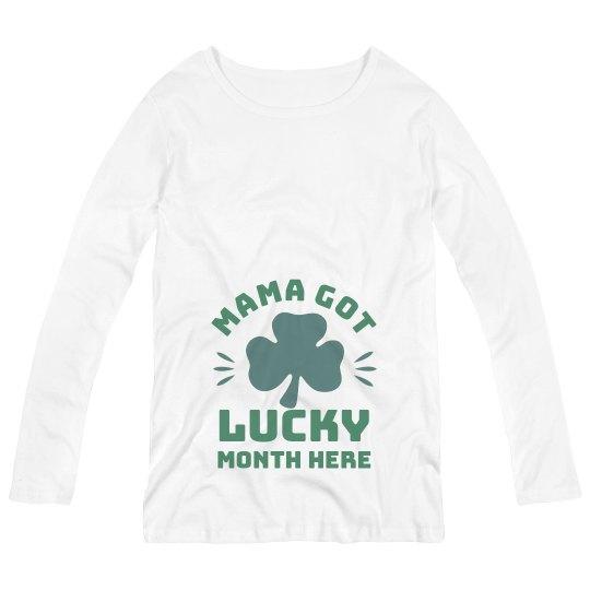 Mama Got Lucky Funny Maternity St. Patrick's