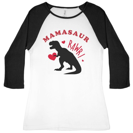 Mamasaur With Hearts