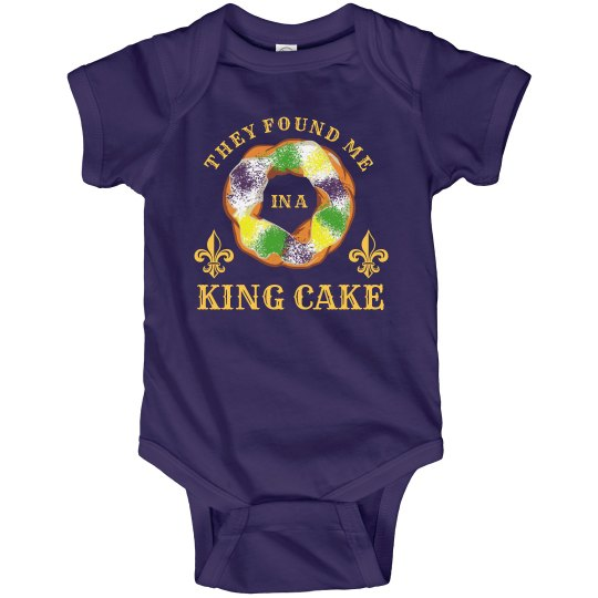 Mardi Gras Baby in a King Cake