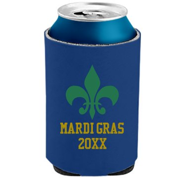 Mardi Gras Can Cooler