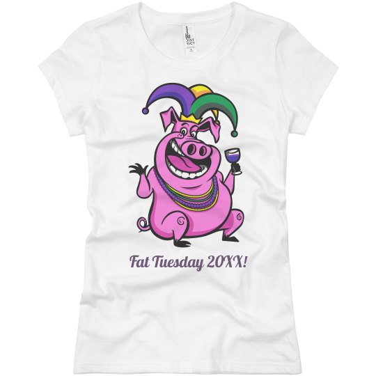 Mardi Gras Party Pig
