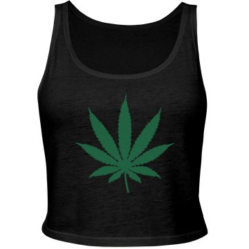 Marijuana Crop Top