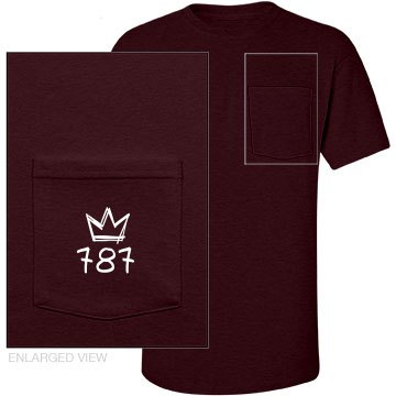 Maroon Shortsleeve Pocket Tee