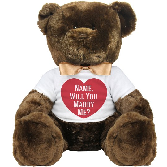 Marry Me Proposal Bear