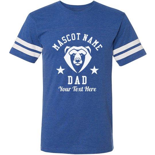 Mascot Custom Football Dad Tee