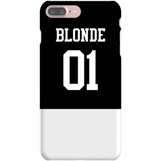 Matching Blonde Brunette Friends