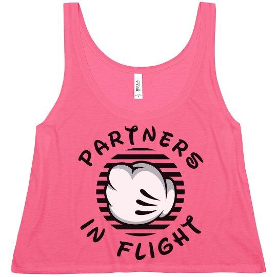 Matching Cheer Flight Partners Base Girl Crop