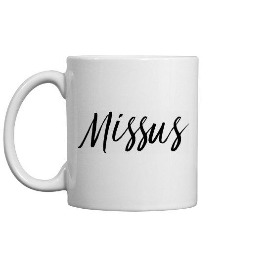 Matching Couple Mug Missus/Mister