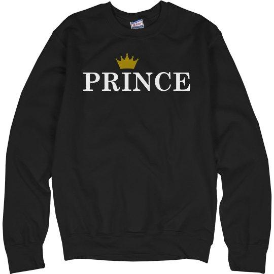 Matching Couple Prince Crown
