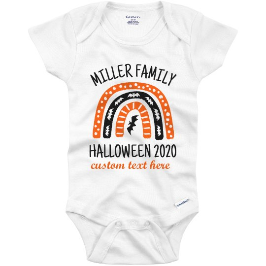 Matching Halloween Family Baby Onesie