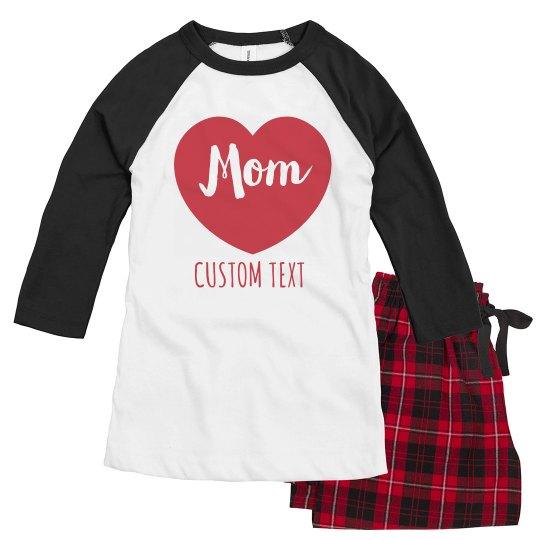 Matching Mom & Child Valentine's Pajamas