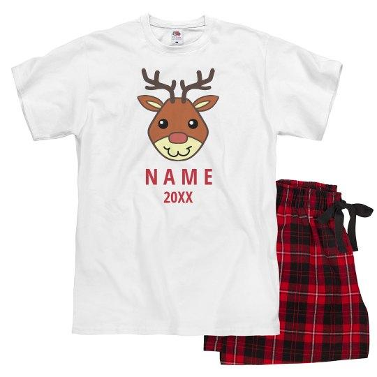 Matching Reindeer Xmas Pajamas
