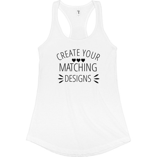 Matching Text Custom Mom Design