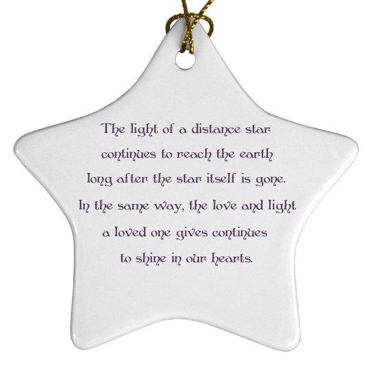 Memory Star Ornament