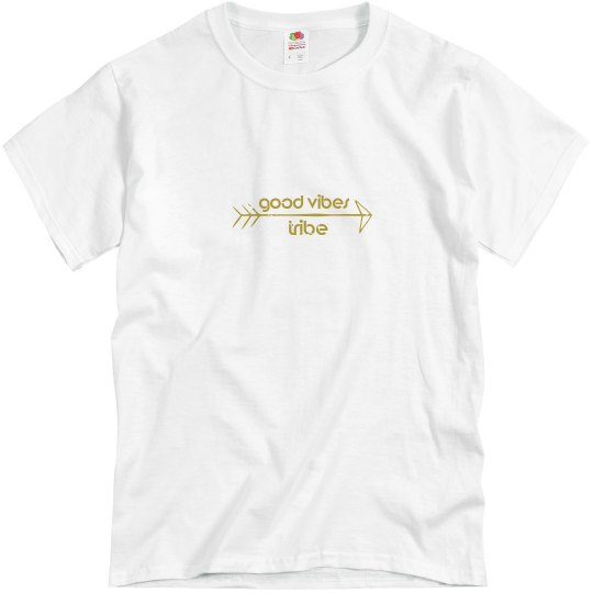 Mens Basic Tee Good Vibes Tribe