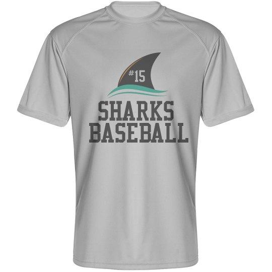 Men's Dry Fit - Sharks Baseball