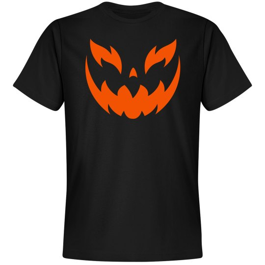 mens pumpkin face tee